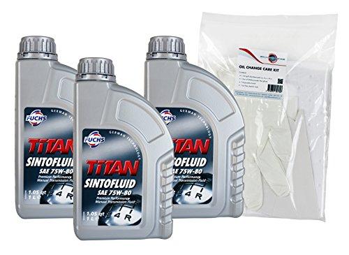 Fuchs Titan Sintofluid SAE 75W80 GL-5 Manual Transmission Fluid Triple Pack...