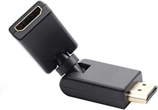 HDMI Adapter Any Angle Adjustable Rotation 90 Degree Gold Plated HDMI Connector Support 1080P HDMI Extender