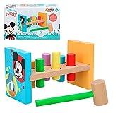 Disney - Gioco di legno per bambini 1 2 anni, giocattolo educativo prescolare per bambini Montessori giocattoli bebè 1 2 anni gioco battere la talpa Disney