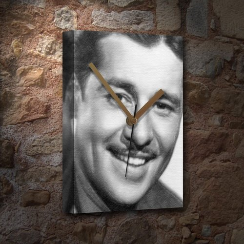SEASONS DON AMECHE - Canvas Clock (A5 - Signed by the Artist