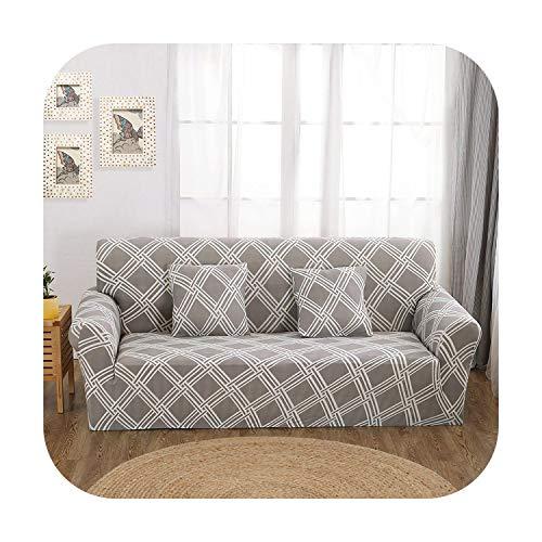 Funda de sofá extensible, elástica para salón, funda de sofá en forma de L, color 20-2-seater 145-185 cm