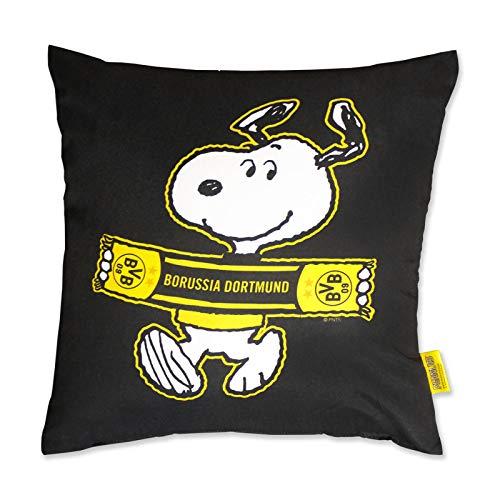 Borussia Dortmund BVB 09 fanartikel sierkussen Snoopy (40x40cm)