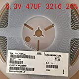 (2500PCS / LOT) Condensadores de tantalio - SMD sólido 47UF 6.3V 20% 3.2 * 1.6 1206