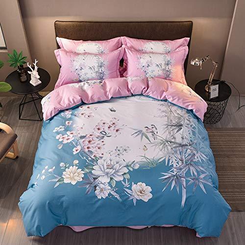 yaonuli katoen vierdelig katoen actief vierdelig bamboe liefde - blauw 1,5 m - 1,8 m breed bed
