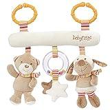 Fehn 160987 Activity-Trapez Rainbow – Stoff-Trapez zum Greifen, Fühlen, Spielen für Zuhause oder unterwegs – Für Babys und Kleinkinder ab 0+ Monaten – Maße: 27cm lang