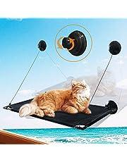 猫窓用ハンモック 猫窓ベッド 窓ハンモック 猫窓ベッド 吸盤式 ペットベッド 吊りハンモック ねこ ネコ キャットハンモック キャットマット 窓際マット 通気メッシュ 日光浴 ウィンドウベッド 折り畳み 吊りベッド 洗える 猫用 耐荷重約23KG ストレス解消 組立簡単 日本語説明書付き 黒