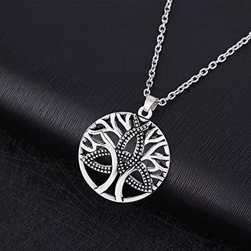 RTEAQ 2 Stück Schönes Halsketten Schmuck Baum aushöhlen Anhänger Halskette für Frauen irischen keltischen Schmuck Geburtstag Party Geschenk