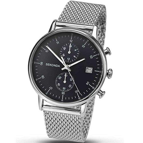 Sekonda Unisex Analog Uhr mit Edelstahl beschichtet Armband 1195.27