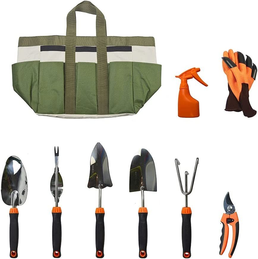 AHXF Garden Tools Set 9 Foldable wholesale Be PCS Over item handling ☆ Seat