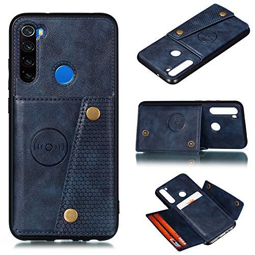 Hongjian Funda para xiaomi Redmi Note 8 TPU Case Case PU Cuero Suave Cover + Funda Case Cover 2