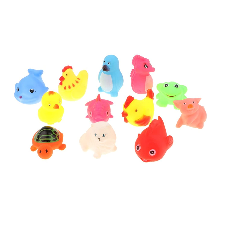 Perfk 2カラー選ぶ 赤ちゃん 認知おもちゃ 浮遊動物モデル お風呂用おもちゃ - #1