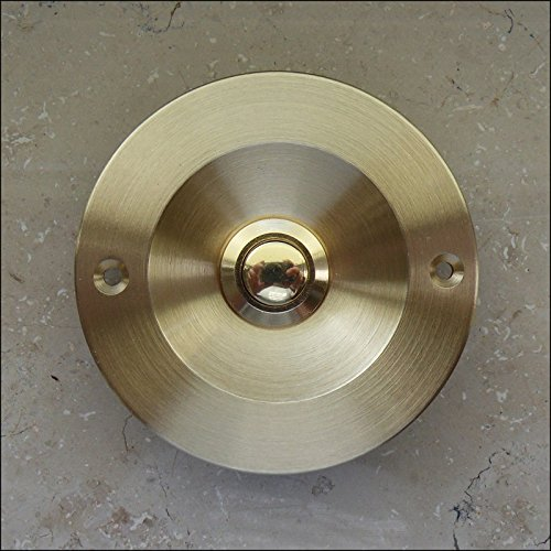SCHARF metall design Messing Klingel, Klingelplatte Klingeltaster Türklingel