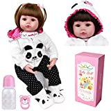 ZIYIUI Bebe Reborn niñas Muñecas Reborn Silicona Reales Baby niño Realista Toddler Dolls Girls Ojos Abiertos...