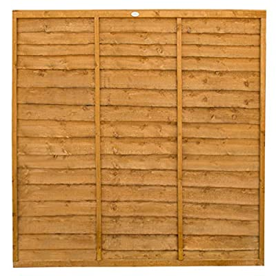 Forest Garden Trade Lap Fence Panel 1.83M High (6x6) - Pack of 5 by Forest Garden