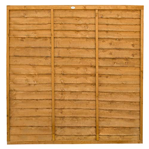 Forest Garden Trade Lap Fence Panel 1.83M High (6 x 6), Pack of 3