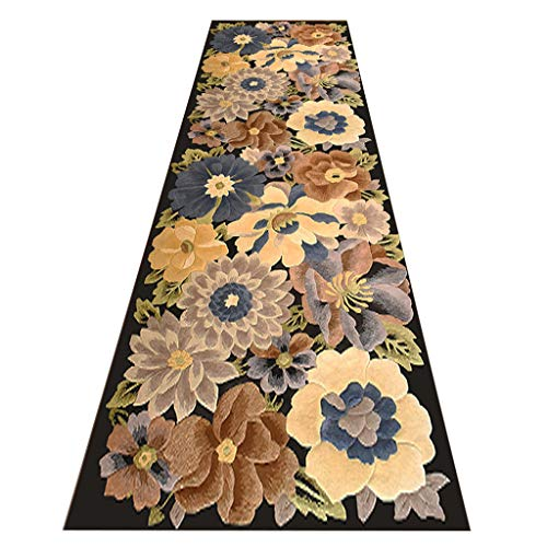HAOXIANG Modern Kitchen Hall Entrance Runners 3D Printing Non-Slip Waterproof Narrow Rugs Can Be Cut, Thickness 0.6Cm, 1㎏ / ㎡,120x400cm/3.94x13. 12ft