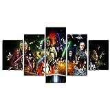 Leyruk 5 Pièce Stormtrooper Star Wars Film peintures sur Toile pour Salon décoration de la Maison Toile Art Mur Affiche (No Frame) Unframed HF046 Size 50 inch x30 inch