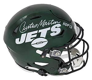 Curtis Martin Signed New York Jets SpeedFlex Riddell Speed Authentic Helmet w/HOF'12 - Schwartz Authentic