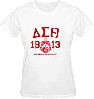 Delta Sigma Theta Women's Cotton Tee Crew Neck Casual Short Sleeve T-Shirts Tops