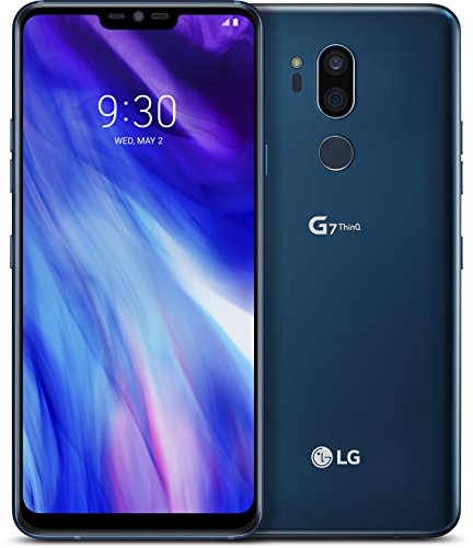 LG G7 ThinQ smartphone con Super Bright Display FullVision 6.1'', Octa-Core 2,8GHz, Memoria 64GB, 4GB RAM, Android 8 Nougat, New Moroccan Blue [Italia]