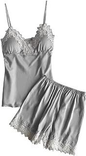 Lovely-Joy 2019 Women Sexy Lace Lingerie Nightwear Underwear Babydoll Short Sleepwear 2PC Set