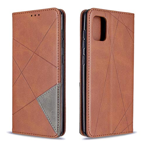 Hülle für Galaxy A31 Hülle Handyhülle [Standfunktion] [Kartenfach] Schutzhülle lederhülle flip case für Samsung Galaxy A31 - DEBF090164 Braun