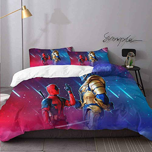 Bed Sheets Set Deadpool Bed Sheets And Comforter Set Bedding 3 Piece Duvet Cover Set Twin