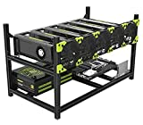 Veddha V4D 6 - GPU Mining Rig Case Aluminum Stackable Mining Rig Open Air Frame with Fan Mount - Ethereum(ETH,ETC)/ZCash(ZEC)/Monero(XMR)/Doge(Doge)/Siacoin(SC) (6 GPU)