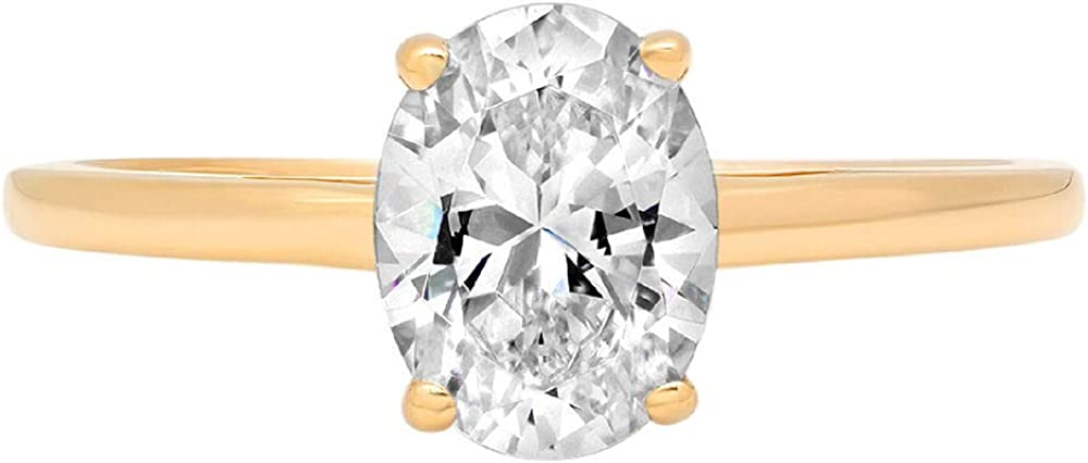 0.9ct Brilliant Oval Regular discount Cut Fashion Solitaire Stunning Created Genuine Lab