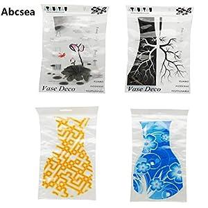 Abcsea florero de plastico Transparente,Florero Plegable De La Decoración del Hogar(Color al Azar),6 Piezas