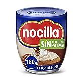 Nocilla Doble Crema de Cacao y Leche con Avellanas, Sin Aceite de Palma, 180g