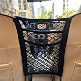 MBVBN 3-Layer Car Mesh Organizer, Seat Back Net Bag, Barrier of Backseat Pet Kids, Cargo Tissue Purse Holder, Driver Storage Netting Pouch