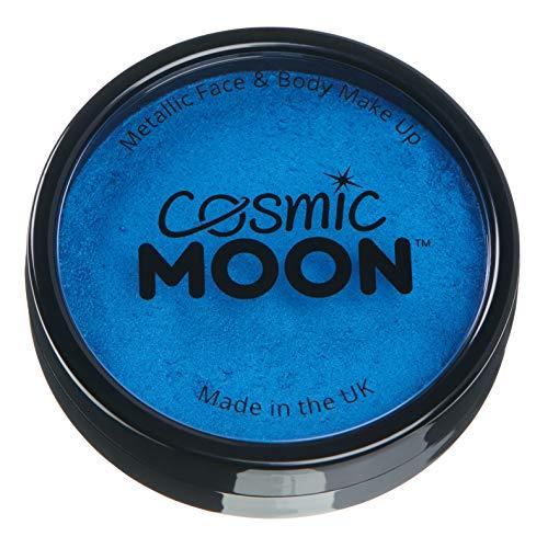 Cosmic Moon - Peinture professionnelle métallique pour visage activée à l'eau - Bleu
