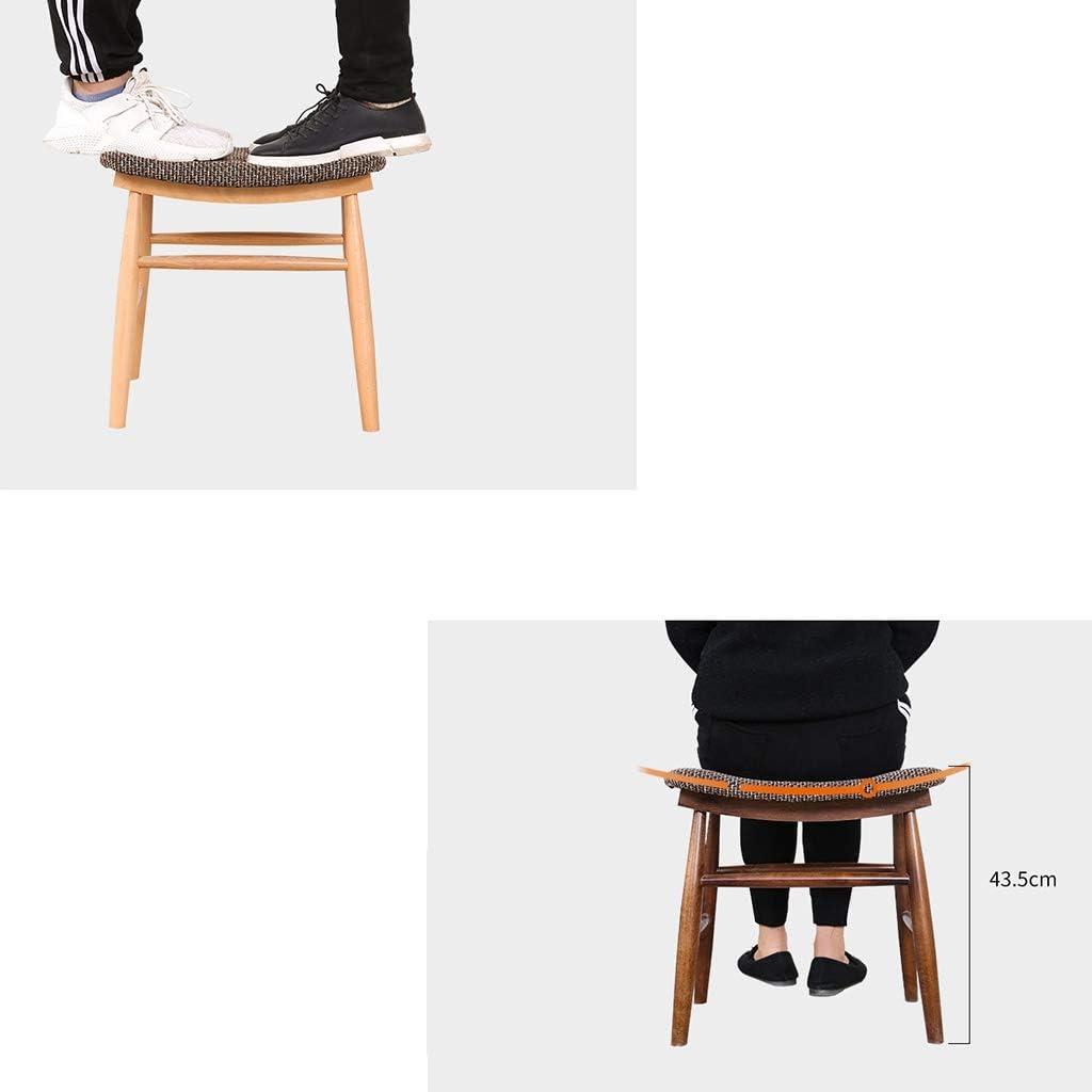 XiuHUa Repose-pieds en bois, banc à chaussures simple, moderne et respirant, coussin en coton et lin, plusieurs couleurs au choix (couleur : B) B
