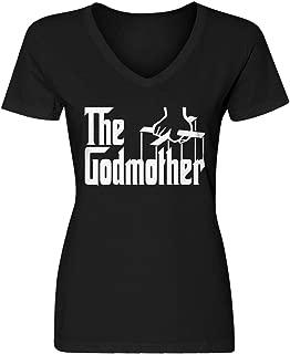 Womens The Godmother Blank V-Neck T-Shirt