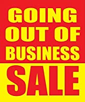 Going Out Of Business Sale 18x24 Store Business Retail Discount Promotion Signs 5 Pack [並行輸入品]