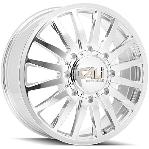 CALI OFF-ROAD 9110D-2881PMF115 Polished/MILLED SPOKES Summit Dually Front 9110 20X8.25 8-165.1 115mm 121.3mm