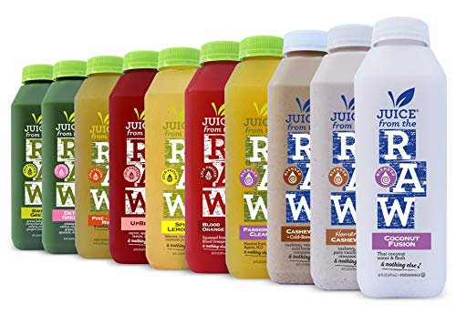 5-Day Juice Cleanse by Juice From the RAW® - Most Popular Juice Cleanse to Lose Weight Quickly / Detoxify Your Body / Be Healthy / 100% Raw Cold-Pressed Juices (20 Total 16 oz. Bottles)