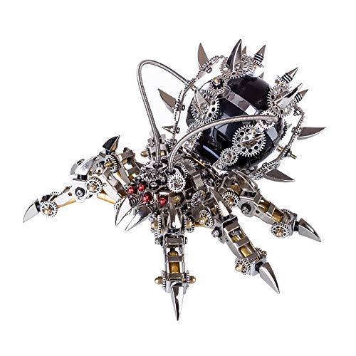 Myste 3D Metall Puzzle Modell mit Bluetooth Lautsprecher - Spinne, 3D Mechanisches Modellbausätze Edelstahl Puzzle Insekt Modell DIY Montage Laserschnitt Metall Spielzeug für Kinder Erwachsene