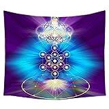 zmigrapddn Mandala Chakra - Tapiz de meditación para colgar en la pared, tapiz indio hippie, manta de yoga, decoración del hogar, poliéster, 5#, 200*150cm
