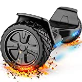 TOMOLOO Hoverboard UL2272 Certified 8.5 Inch Off Road Hoverboard with Bluetooth Speaker and LED Light,App Controlled Electric Self Balancing Scooter for Kids and Adults