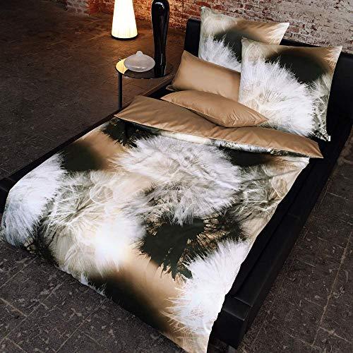 ESTELLA Bettwäsche Nougat   135x200 + 80x80 cm   bügelfreie Interlock-Jersey-Qualität   pflegeleicht und trocknerfest   ideale Vier-Jahreszeiten-Bettwäsche   100% Baumwolle