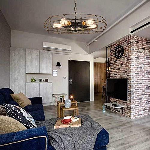 Plafondventilator, industriële, 1 kop, retro, voor eetkamer, woonkamer, slaapkamer, hotel, café, bar, E 27 (lamp niet inbegrepen) diameter: 21,26 inch