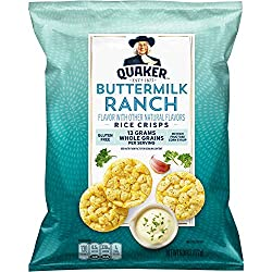 Quaker Popped Rice Snacks, Ranch, 6.06 oz