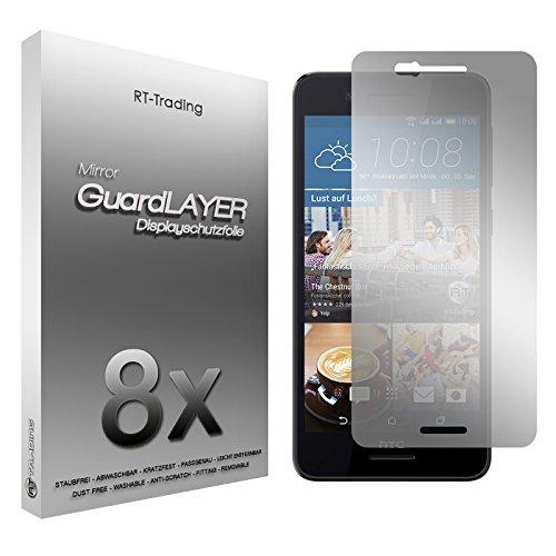 2x HTC Desire 728G Dual Sim - Spiegelfolie Bildschirm Schutzfolie Folie Schutz Mirror Screen Protector Bildschirmfolie - RT-Trading