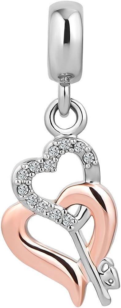 CharmSStory Forever and Always Arrow Through a Heart Charm Beads for European Bracelet