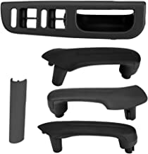 Front Left Master Window Switch Control Panel Kit- Interior Door Front & Rear Right, Rear Left Grab Handle for VW Jetta Golf MK4(Black)