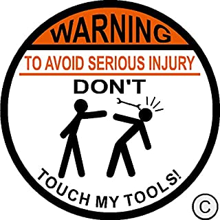 do not touch me sticker
