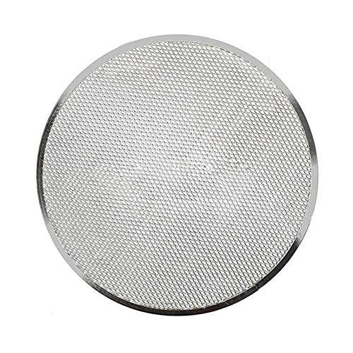 HUIJUNWENTI Professionelle runde Pizzaofen Backtablett BarbecueGrate Nichtstick Mesh Net Geeignet für Küche, Restaurant, Hotel (Farbe : Silber)