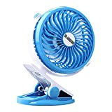 Product Image of the BLUBOON Clip On Fan Battery Operated Quiet Silent 5' Portable Stroller Fan